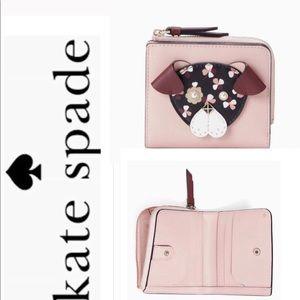 Kate Spade Cherrywood Floral Dog Novelty Wallet